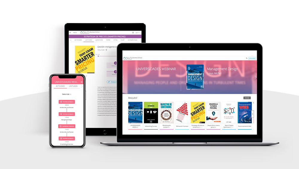 Business school ODILO Learning Clubs platform